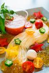 彩り野菜の天の川そうめん~トマトつゆで~