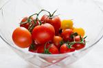 トマトとガラス