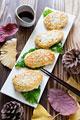 タイトル:ふわふわ!きのこ豆腐ハンバーグ