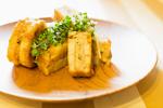 レンコンの挟み焼き 醤油麹バター