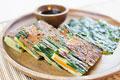 タイトル:焦がしチーズの野菜チヂミ