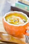 スモークサーモンの味噌シチュー