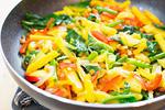 オムレツの野菜