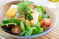 タイトル:サラダ冷や奴