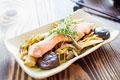 タイトル:秋鮭ときのこの生姜焼き