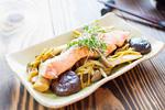 秋鮭ときのこの生姜焼き