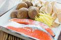 タイトル:秋鮭ときのこ