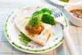 タイトル:たけのこステーキ 和風おろしソース