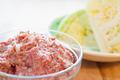 タイトル:合挽肉と春キャベツ
