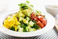 タイトル:わさび風味のネバネバ野菜丼