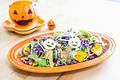 タイトル:シャキシャキ野菜のハロウィンサラダ