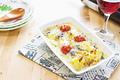 タイトル:ほっこり芋のブルーチーズ焼き
