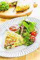 タイトル:野菜たっぷりオムレツ