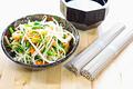 タイトル:ナムルと蕎麦