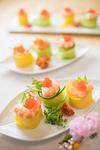 玉子と胡瓜のロールてまり寿司