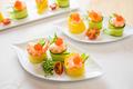 タイトル:玉子と胡瓜のロールてまり寿司