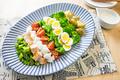 タイトル:春野菜のコブサラダ