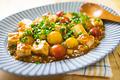 タイトル:ピリ辛トマト麻婆豆腐