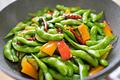 タイトル:枝豆ペペロンチーノ