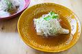 タイトル:香味野菜とメカジキのレンジ蒸し