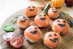 スモークサーモンのハロウィンてまり寿司