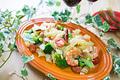 タイトル:海老とブロッコリーのフジッリ