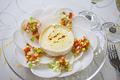 タイトル:蕪とカマンベールチーズのサラダ フレッシュ野菜ドレッシング