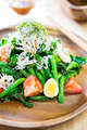 タイトル:菜の花としらすの和風サラダ
