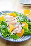 お刺身サラダ オレンジドレッシング