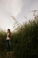 草原の男性