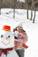 雪だるまと少女