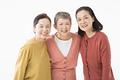 タイトル:仲良しのシニアの女性3人