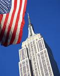 エンパイアステートビルとアメリカ国旗
