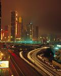 ビル街の夜景