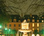 ヴォージュ広場の噴水
