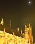 満月と英国議会議事堂