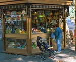 広場の売店