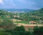 山麓の町並