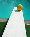 飛び込み板とボール