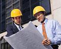タイトル:工事現場のビジネスマン