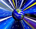 タイトル:宇宙空間の地球(CG)