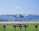 飛行機と滑走路