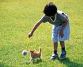 タイトル:少女と子猫