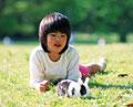 タイトル:少女とウサギ