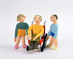 クラフト(車椅子の女性と子供)