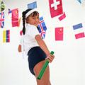 タイトル:運動会の少女
