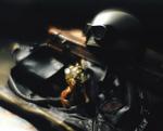 レザージャケットとヘルメット