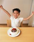 バースデーケーキと少年