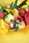 玩具と果物