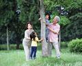 タイトル:祖父母と孫